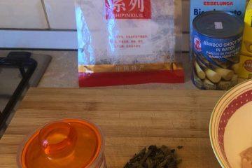 pollo con bambù e funghi ricetta