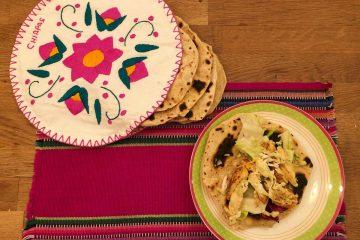 pollo messicano con tortillas