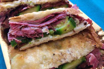sandwich carne secca e zucchine dettaglio