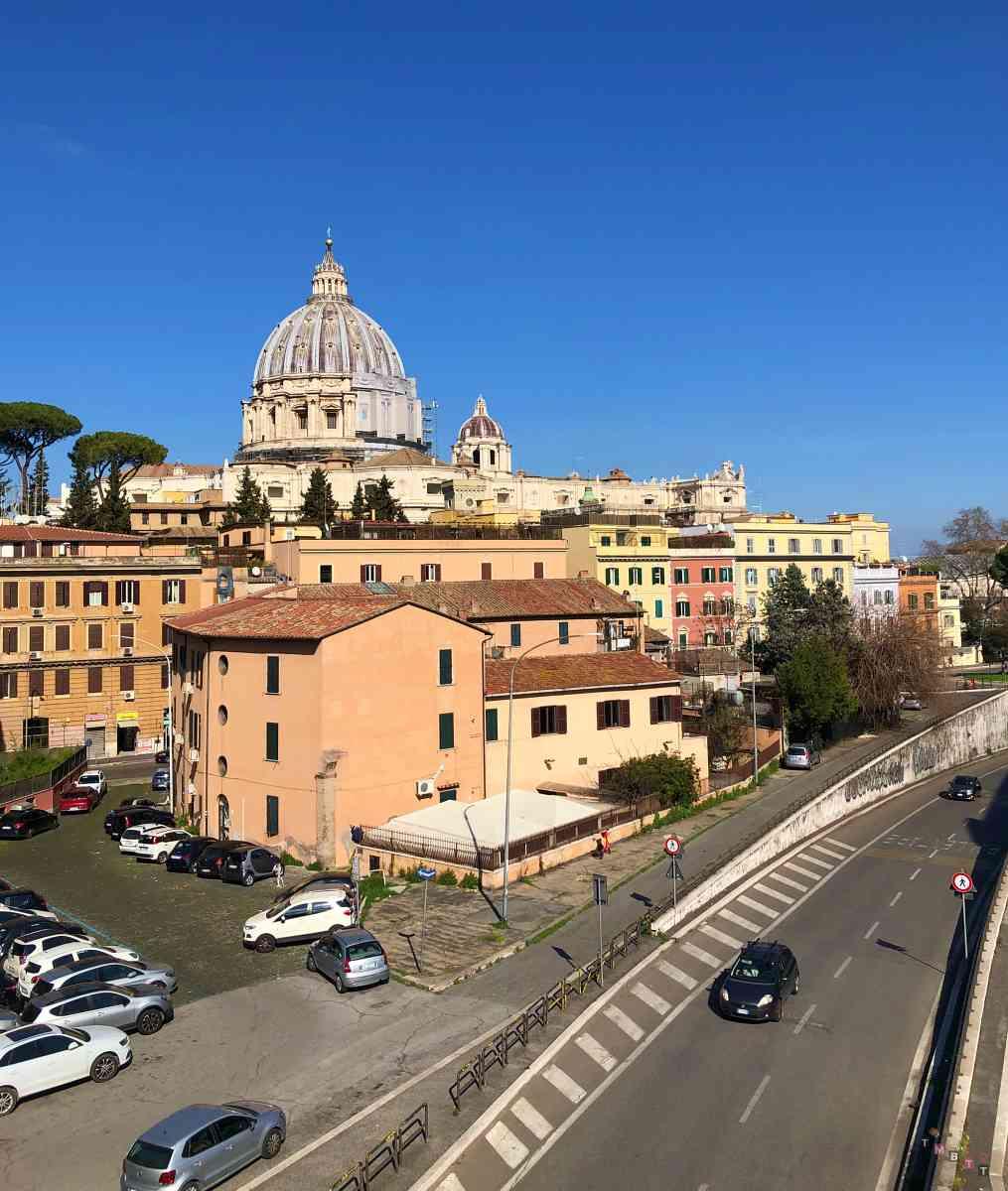 Vista di San Pietro da passeggiata gelsomino