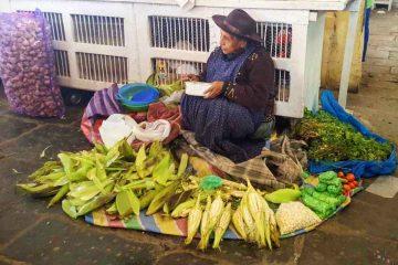 mercato cusco-signora pannocchie