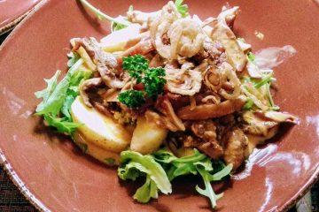 piatto di maiale cena da aline lieician vilnius