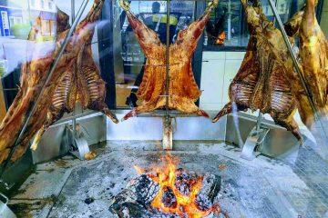 asado argentino a la cruz in cottura
