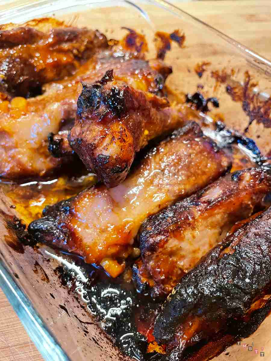 costolette di maiale bbq al forno