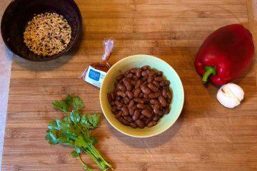 ingredienti ricetta burritos messicani con verdure