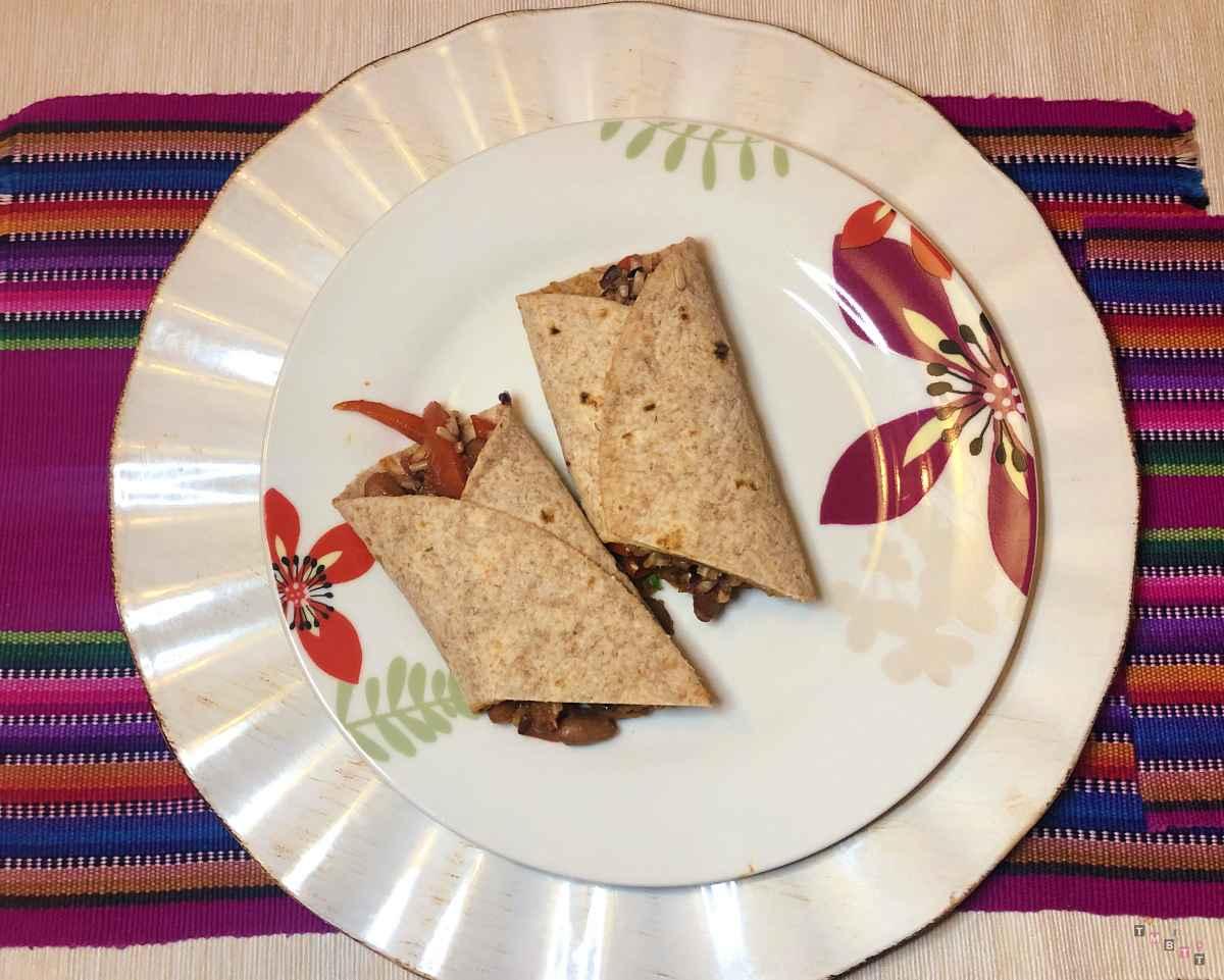 ricetta burritos messicani con verdure