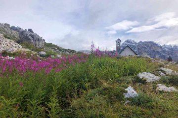 Vista Cappella degli Alpini Tre Cime di Lavaredo