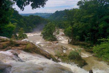 cascate di agua azul dall alto