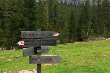 indicazioni sentiero 19 lago di braies