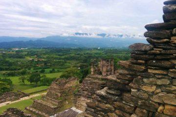 panorama da piramide tonina chiapas messico