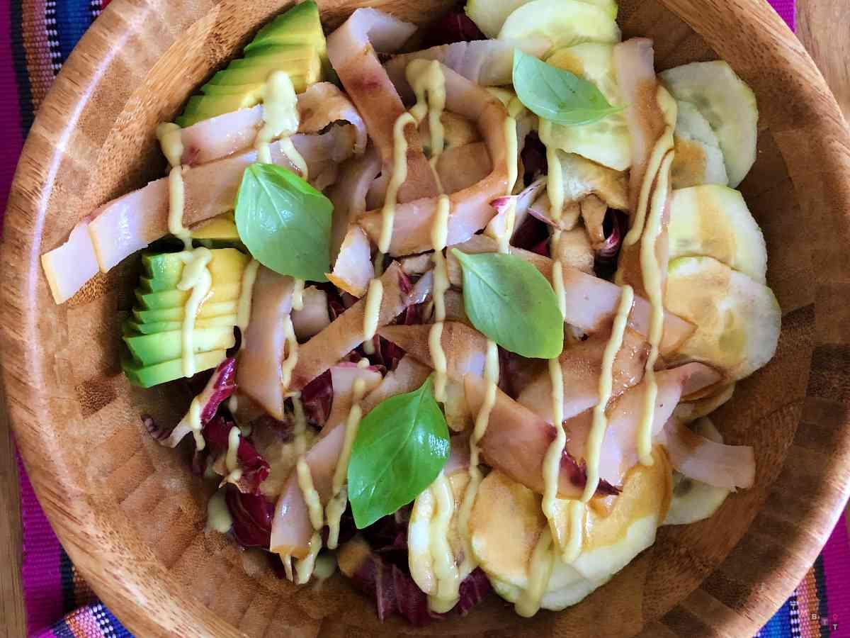 poke con avocado semi misti e maionese