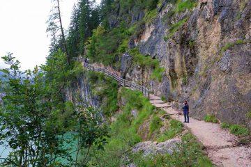 vista sentiero lago di braies