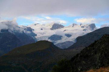 Vista ghiacciai Monte Rosa da Baita belvedere champoluc