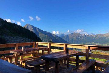 panorama da terrazza rifugio belvedere champoluc