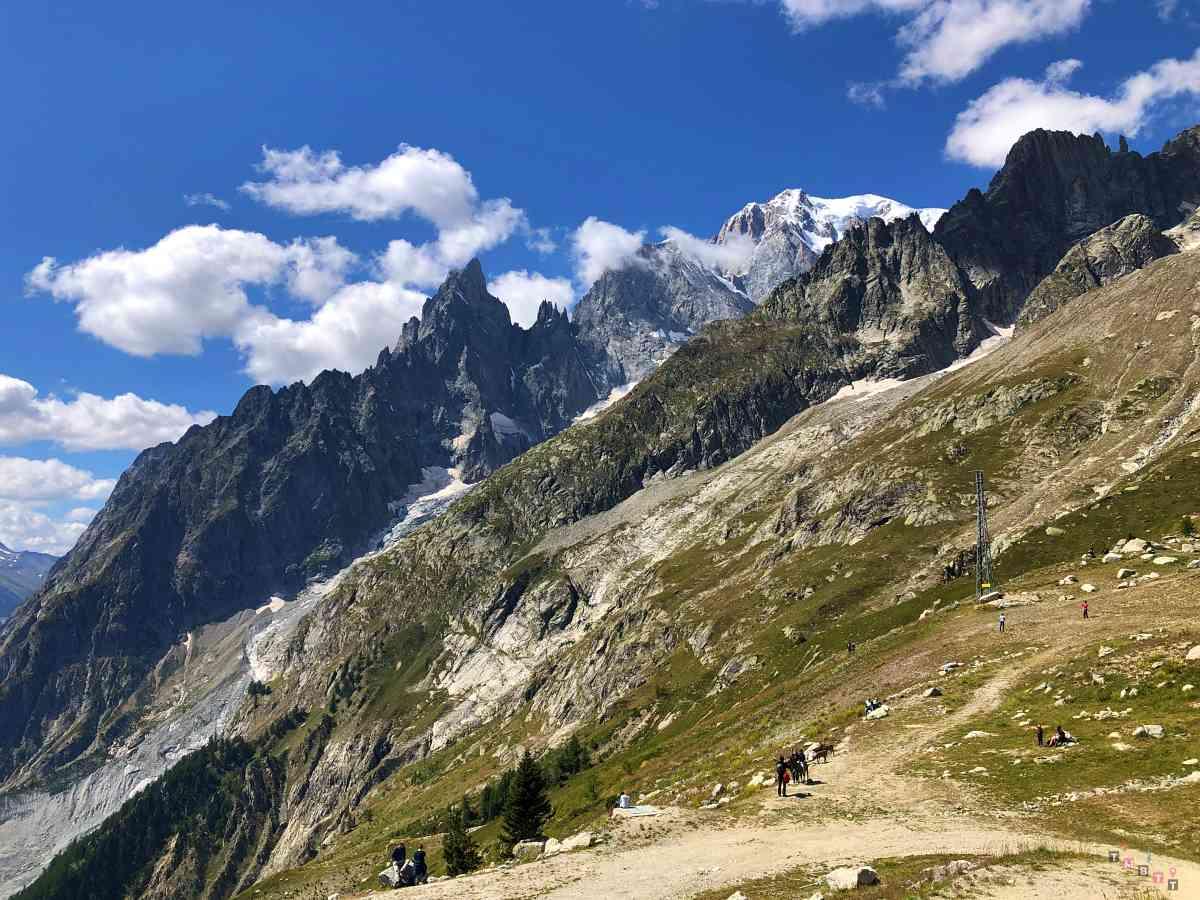 vista massiccio Monte Bianco